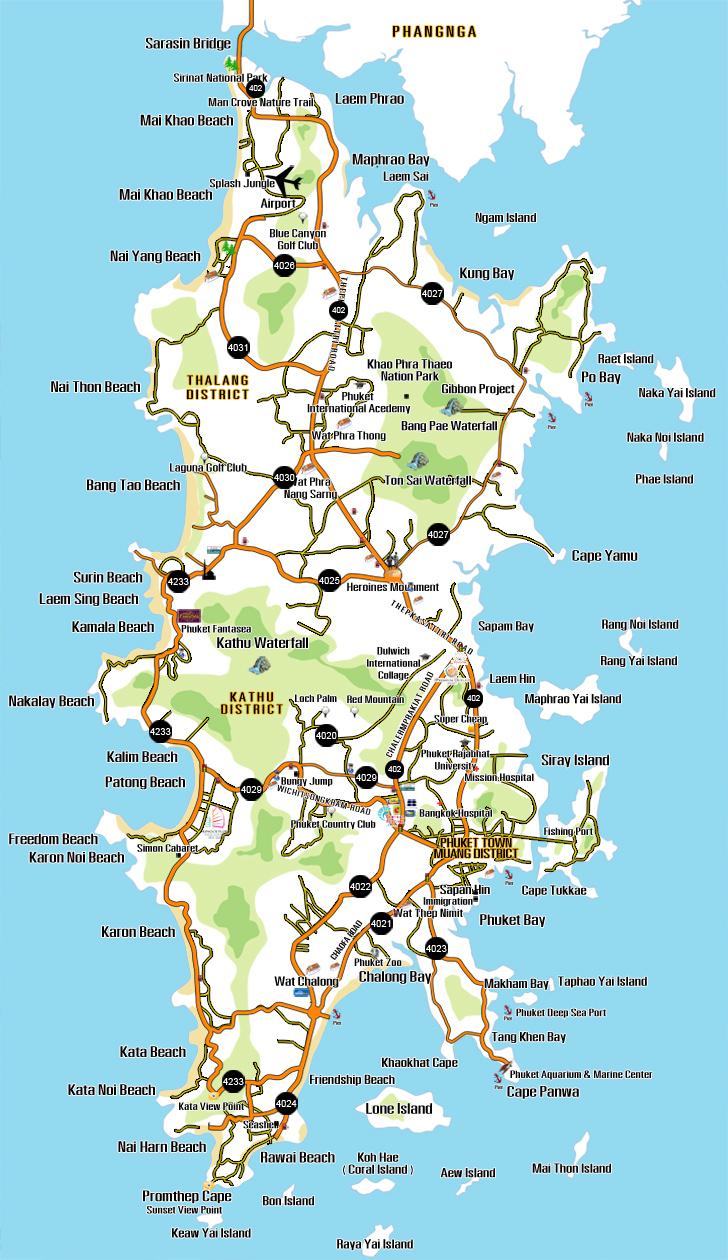 Thailand Karte Phuket
